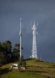 Telecomunications towers royalty free stock photography