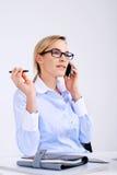 Telecomunicationsvrouw Stock Foto