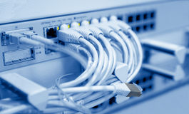 Telecomunicazione collegata Fotografia Stock