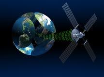 Telecomunicazioni via satellite Immagini Stock
