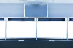 Teleconference and telepresence screen display. For any use Stock Images