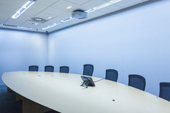Teleconferencing and telepresence business meeting room Royalty Free Stock Images