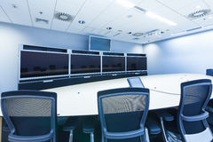 Teleconferencing, video conference and telepresence business mee Stock Photos