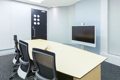 Teleconferencing, video conference and telepresence business mee Royalty Free Stock Images