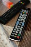 Telecontrol de la TV Imágenes de archivo libres de regalías