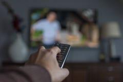 Telecontrol de la TV Fotografía de archivo