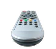 Telecontrol de la TV aislado en blanco Foto de archivo