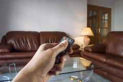 Telecontrol del control del presionado a mano una lámpara Fotografía de archivo libre de regalías