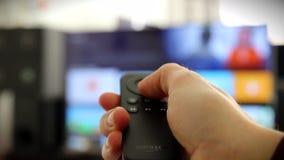 Telecontrol del fuego TV del Amazonas almacen de metraje de vídeo