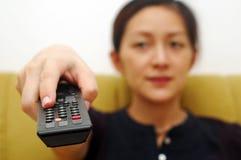 Telecontrol del tecleo TV Imágenes de archivo libres de regalías
