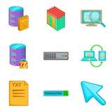 Telecontrole que corta os ícones ajustados, estilo dos desenhos animados Imagens de Stock