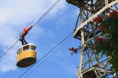 Teleférico amarelo Fotos de Stock Royalty Free