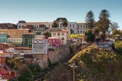 Teleférico Cerro Artilleria de Ascensor em Valparaiso, o Chile Fotos de Stock Royalty Free
