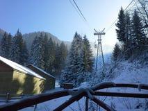 Teleférico da estância de esqui Fotografia de Stock