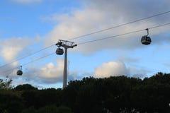 Teleférico da expo 98 em Lisboa Fotos de Stock Royalty Free