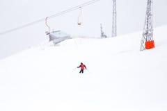 Teleférico da montanha da neve, Elbrus, Rússia Imagens de Stock Royalty Free