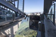 Teleférico da plataforma do dobro de Cabrio, Stanserhorn Fotos de Stock Royalty Free