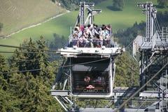 Teleférico da plataforma do dobro de Cabrio, Stanserhorn Fotografia de Stock Royalty Free