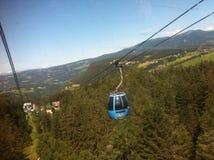 Teleférico de Alpe di siusi Fotografía de archivo
