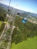 Teleférico de Alpe di siusi Imagen de archivo libre de regalías