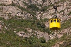Teleférico de la cabina a Montserrat Fotos de archivo libres de regalías