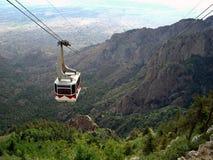 Teleférico de la montaña de Sandia Foto de archivo