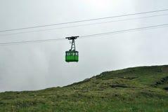 Teleférico de la montaña del paisaje Foto de archivo libre de regalías