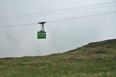 Teleférico de la montaña del paisaje Fotos de archivo libres de regalías