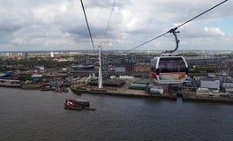 Teleférico de Londres imagens de stock royalty free