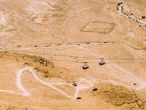 Teleférico de Masada Imagen de archivo libre de regalías