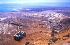 Teleférico de Masada, Israel imagens de stock royalty free