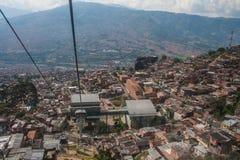 Teleférico de Medellin fotografia de stock royalty free