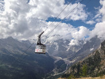 Teleférico de Monte Rosa Imagen de archivo