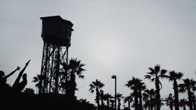 Teleférico de Motjuïc foto de archivo libre de regalías