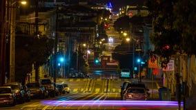 Teleférico de San Francisco en la noche almacen de metraje de vídeo