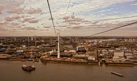 Teleférico dos emirados de Tfl Londres Fotos de Stock
