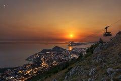 Teleférico Dubrovnik Imagenes de archivo