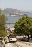 Teleférico e Alcatraz Imagem de Stock