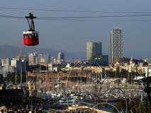 Teleférico em Barcelona Imagens de Stock Royalty Free