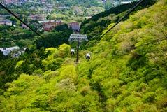 Teleférico em Hakone, Japão fotografia de stock royalty free