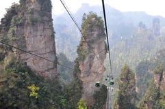 Teleférico em Zhangjiajie Fotografia de Stock
