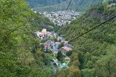 Teleférico en Borjomi Georgia, septiembre Fotografía de archivo libre de regalías