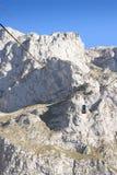 Teleférico en Dolomies. Foto de archivo libre de regalías
