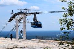 Teleférico en el top de Stone Mountain en Georgia Foto de archivo libre de regalías