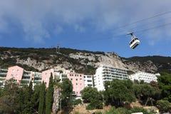 Teleférico en Gibraltar Fotografía de archivo libre de regalías