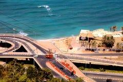 Teleférico en Haifa, Israel imágenes de archivo libres de regalías