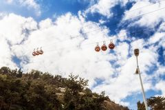 Teleférico en Haifa, Israel fotos de archivo