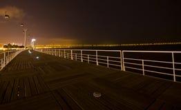 Teleférico en la noche Imagen de archivo libre de regalías