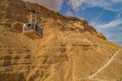Teleférico en Masada Imágenes de archivo libres de regalías