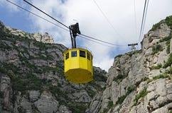 Teleférico en Montserrat, España Fotografía de archivo